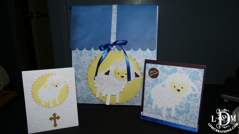 Little lamb gift bags and invites