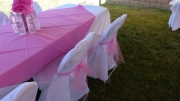 Elegant chair covers and saches