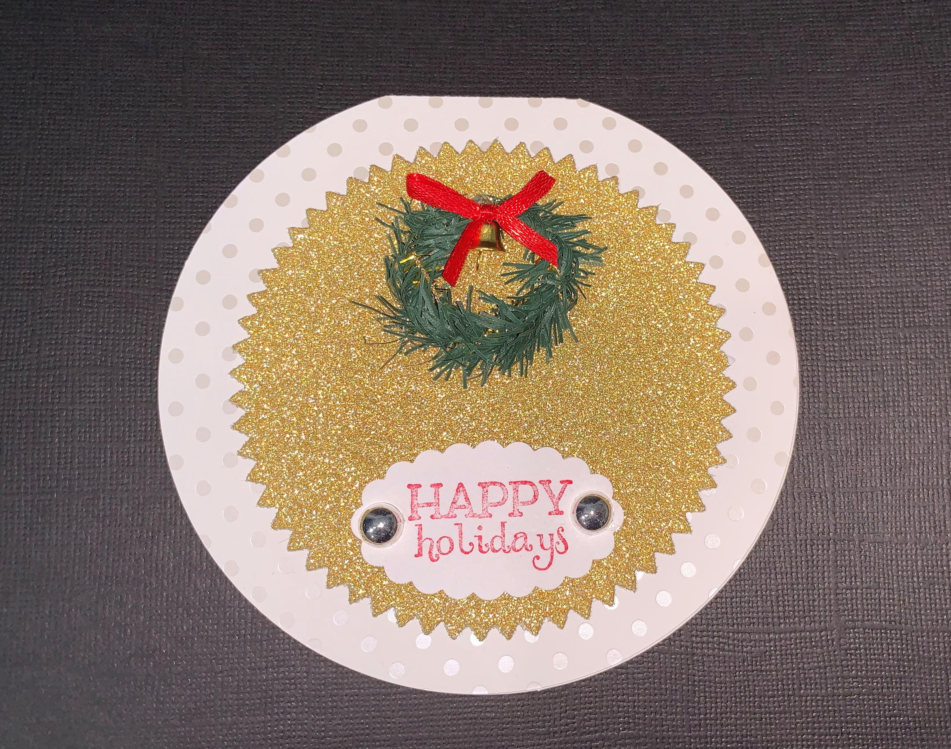 Round Gift Card Holder sample
